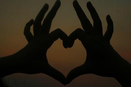 Heart at sunset. Stock Photo - 7214370