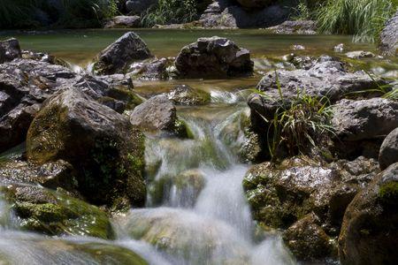 olympus: Water springs, Mount Olympus, Greece  Stock Photo