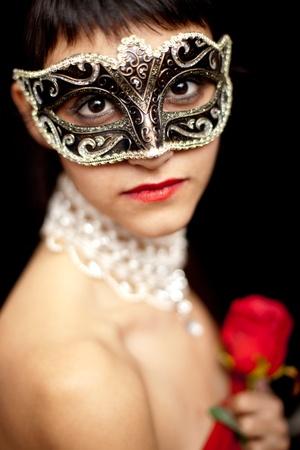 Woman wearing a mask  photo