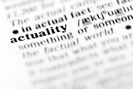 actuality: actuality (the dictionary project, macro shots, shallow D.O.F.)