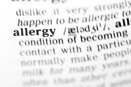 allergy (the dictionary project, macro shots, shallow D.O.F.) Stock Photo