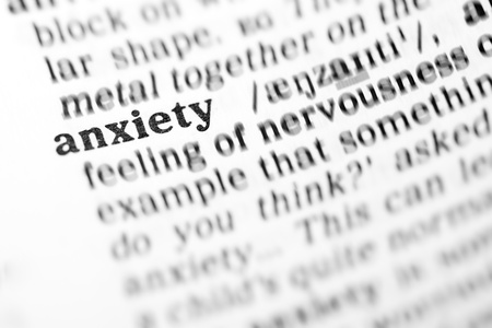 anxiety (the dictionary project, macro shots, shallow D.O.F.) Stock Photo