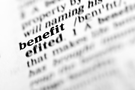 benefit (the dictionary project, macro shots, shallow D.O.F.) Stock Photo