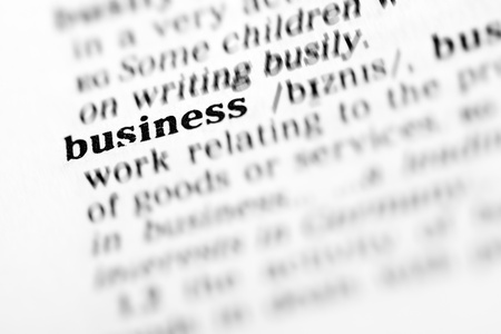 business (the dictionary project, macro shots, shallow D.O.F.) photo