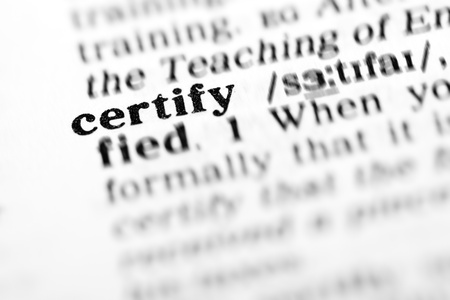 certify: certify (the dictionary project, macro shots, shallow D.O.F.)