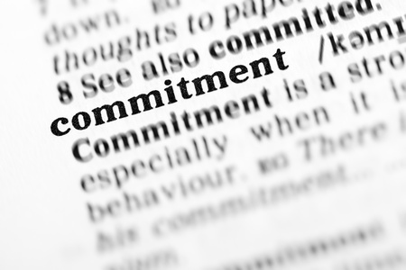 commitment (the dictionary project, macro shots, shallow D.O.F.)