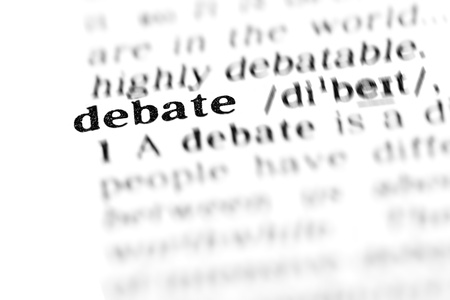 debate (the dictionary project, macro shots, shallow D.O.F.)
