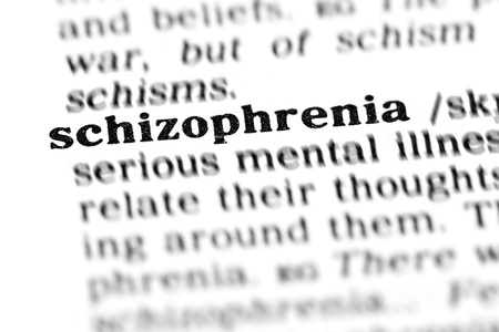 schizophrenia (the dictionary project, macro shots, shallow D.O.F.) Stock Photo