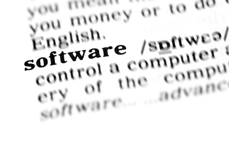software (the dictionary project, macro shots, shallow D.O.F.) Stock Photo
