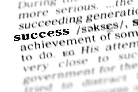 succes (de woordenboek project, macro shots, ondiepe D.O.F.)
