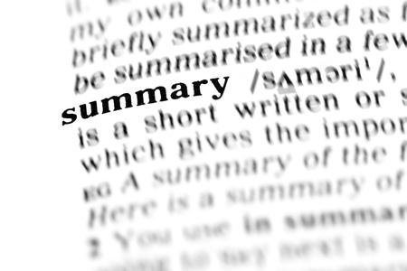 summary (the dictionary project, macro shots, shallow D.O.F.)