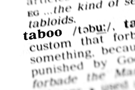 taboo: taboo (the dictionary project, macro shots, shallow D.O.F.) Stock Photo