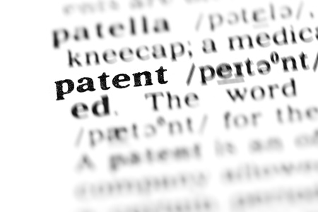 patent (the dictionary project, macro shots, shallow D.O.F.) Stock Photo