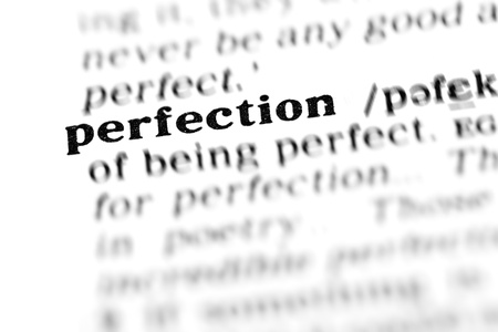 perfection (the dictionary project, macro shots, shallow D.O.F.) Stock Photo - 9495481