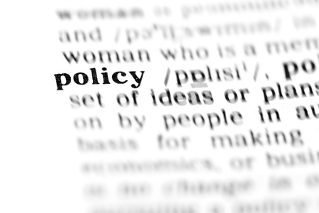 policy (the dictionary project, macro shots, shallow D.O.F.)