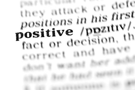 positive (the dictionary project, macro shots, shallow D.O.F.) Stock Photo - 9495584