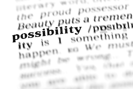 possibility: possibility (the dictionary project, macro shots, shallow D.O.F.) Stock Photo
