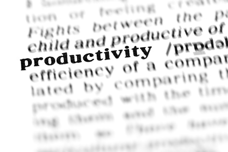 english dictionary: productivity (the dictionary project, macro shots, shallow D.O.F.)