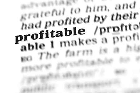banking document: profitable (the dictionary project, macro shots, shallow D.O.F.)