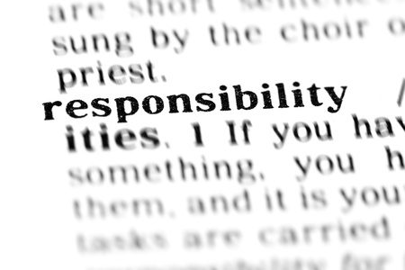 responsibility (the dictionary project, macro shots)