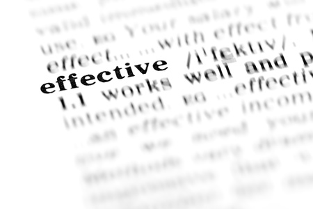 effective (the dictionary project, macro shots, shallow D.O.F.) Stock Photo - 9506357