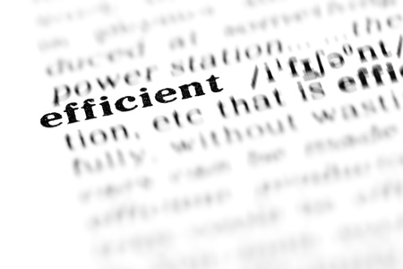 efficient (the dictionary project, macro shots, shallow D.O.F.)
