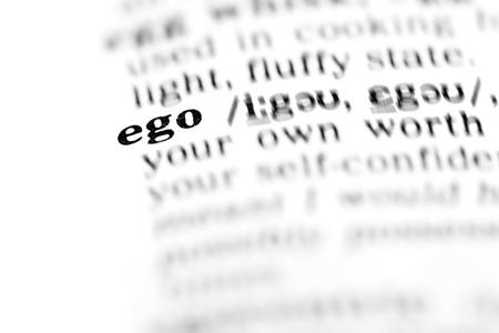 ego  (the dictionary project, macro shots, shallow D.O.F.)   Stock Photo