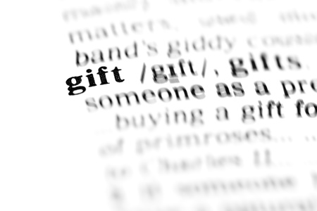 gift (the dictionary project, macro shots) photo