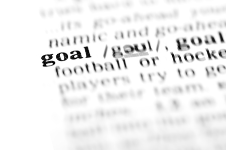 goal  (the dictionary project, macro shots, shallow D.O.F.)   photo