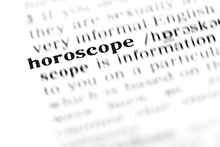 horoscope (the dictionary project, macro shots, shallow D.O.F.)  Stock Photo - 10177154