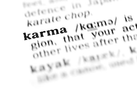 karma (the dictionary project, macro shots)