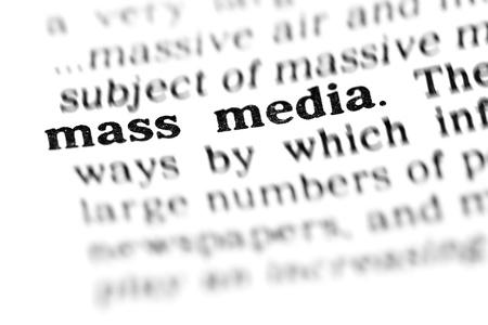 mass media (the dictionary project, macro shots) photo