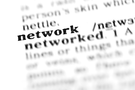 network (the dictionary project, macro shots, shallow D.O.F.)  Stock Photo