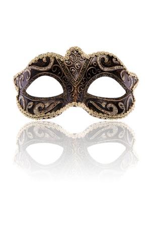 mascara de carnaval: M�scara de Carnaval veneciano, aislada en fondo blanco