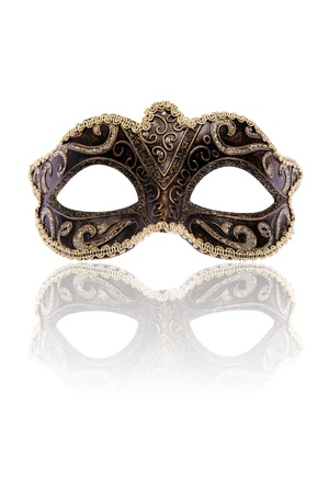 Venetian carnival mask, isolated on white background