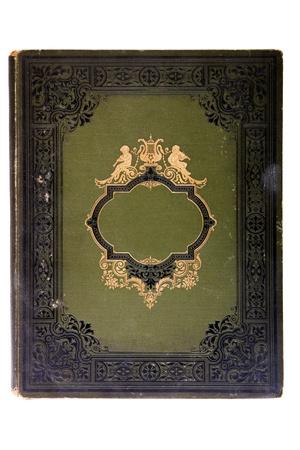 portadas de libros: Libro de tapa muy viejo (principios del siglo XX), aislado en blanco Foto de archivo
