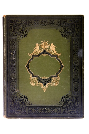 Very old cover book (early 1900s), isolated on white Stock Photo
