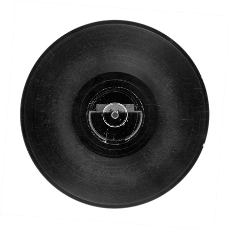 Gramophone record of 30's, 78 r.p.s., isolated on white