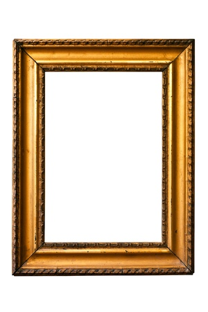 retro golden old frame, isolated on white Stock Photo - 9980126