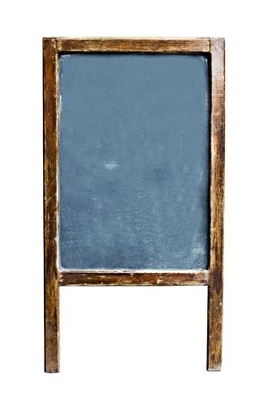 空のメニューの黒板本文、コピー領域の白い背景で隔離された、クリッピング パス含まれています。