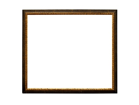Old  retro picture frame (No#21) isolated on white background photo