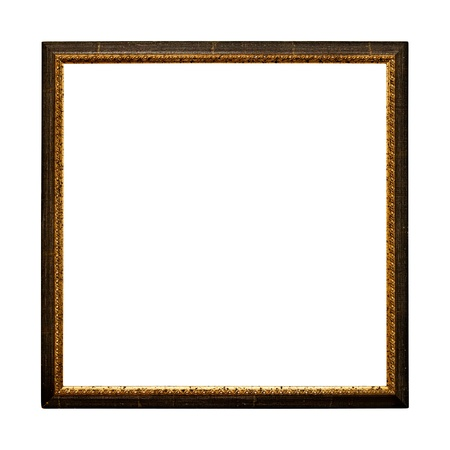 Old  retro picture frame (No#21b) isolated on white background photo