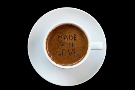 The secret ingredient of Greek coffee is LOVE  Stock Photo - 13483329