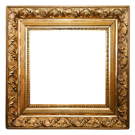 Golden Old Frame isolated (clipping paths included) photo