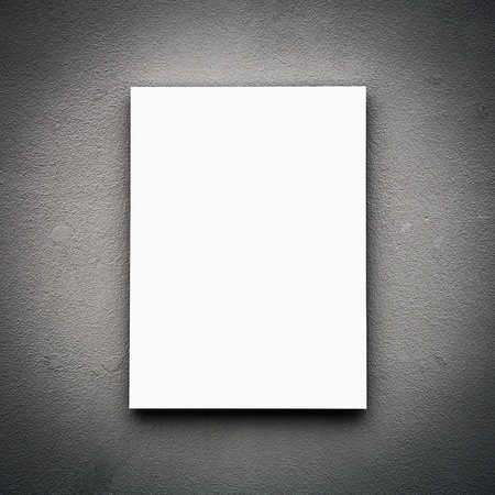 Blank White Board On Wall photo