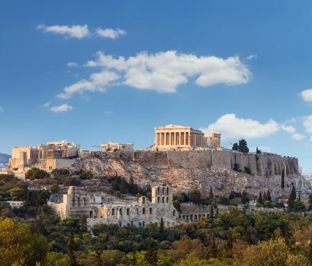 Parthenon, temple on the Athenian Acropolis, dedicated to the maiden goddess Athena photo