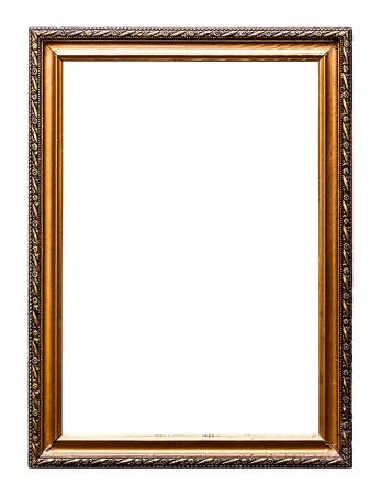 Golden Old Picture Frame, Isolated on White, No 39  clipping paths included  photo