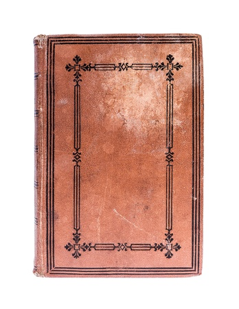19th: Very Old book from 19th century , isolated on white, clipping paths included