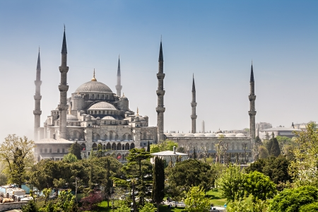 Sultan Ahmed Mosque, also known as the Blue Mosque,  Istanbul, Turkey Stock Photo