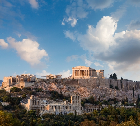 アテネのアクロポリス、アテネ、ギリシャのパルテノン神殿